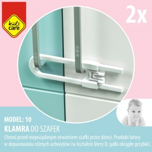 Klamra do szafek - Model 10  KIDS CARE